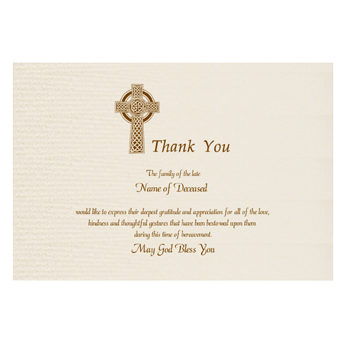 Acknowledgement Card
